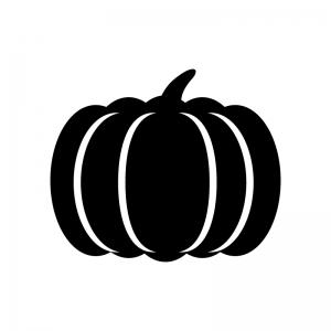 カボチャのシルエットイラスト 無料のaipng白黒シルエットイラスト