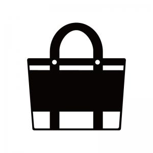 トートバッグのシルエット 無料のaipng白黒シルエットイラスト
