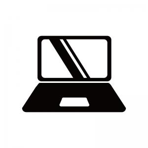 ノートパソコンのシルエット