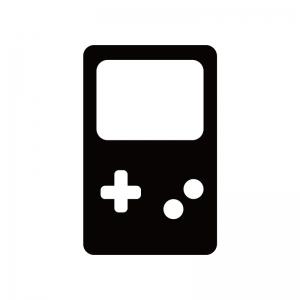 携帯ゲーム機のシルエット