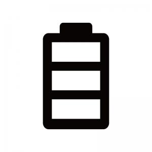 電池残量マークのシルエット