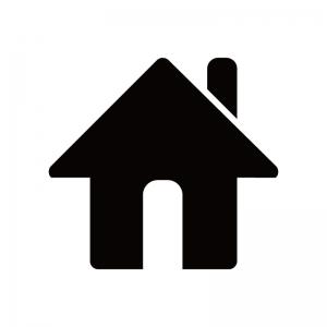 家(ホーム)のシルエット
