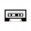 カセットテープのシルエット