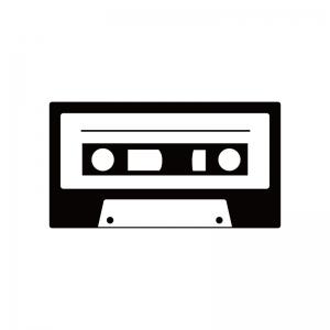 カセットテープのシルエット 無料のaipng白黒シルエットイラスト