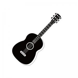 アコースティックギターのシルエット