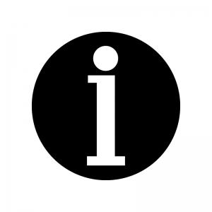 インフォメーションマークのシルエット02
