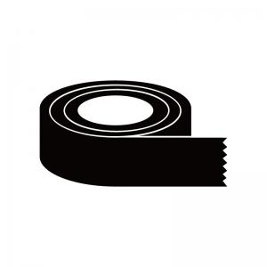 ガムテープのシルエット