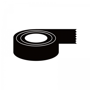 ガムテープのシルエット02