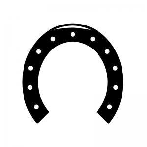 馬の蹄鉄のシルエット