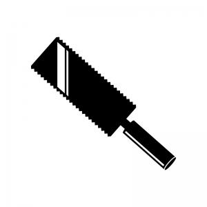 両刃のノコギリのシルエット