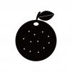 オレンジのシルエット