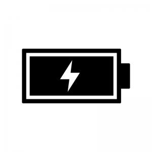 電池充電中マークのシルエット