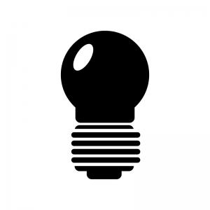 電球のシルエット
