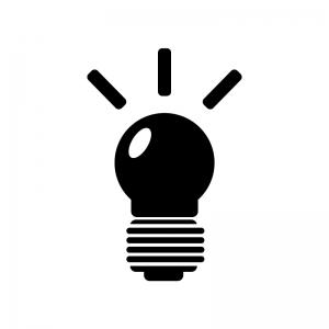 電球のシルエット02