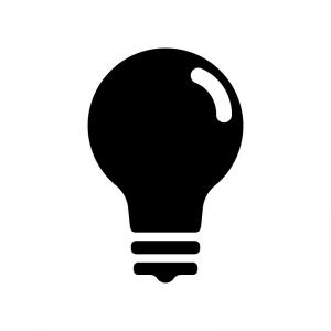 電球のシルエット03