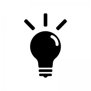 電球のシルエット04