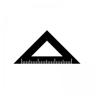 三角定規のシルエット