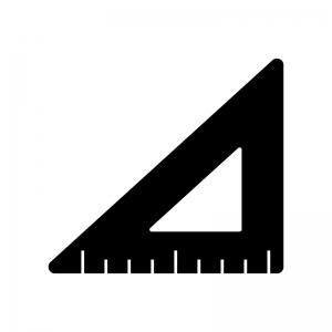 三角定規のシルエット02