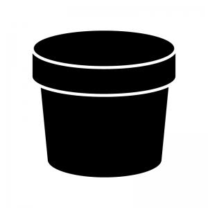 植木鉢のシルエット