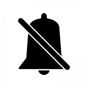 消音のベル・鈴のシルエット
