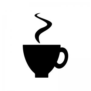 コーヒーカップのシルエット