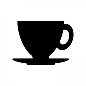 コーヒーカップのシルエット02