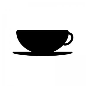 コーヒーカップのシルエット03