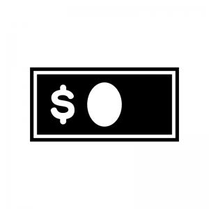 ドル紙幣のシルエット