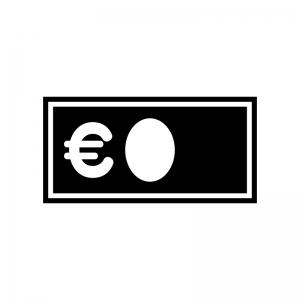 ユーロ紙幣のシルエット