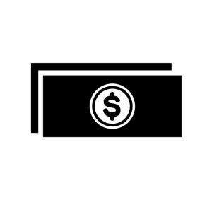 ドル紙幣のシルエット02