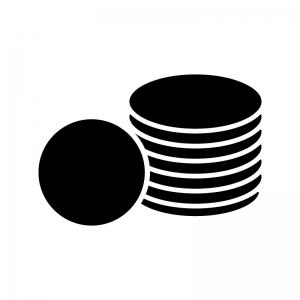 コイン・お金のシルエット