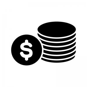 コイン・お金のシルエット03