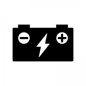 バッテリー充電中のシルエット