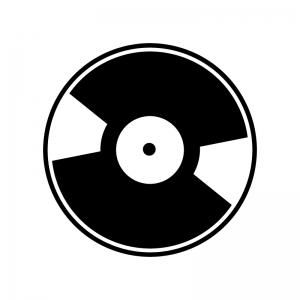 CD・レコードのシルエット