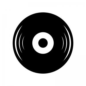 レコードのシルエット