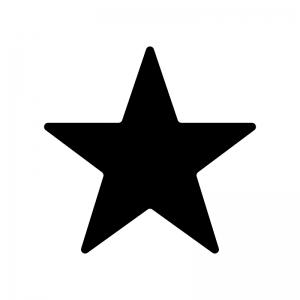 星のシルエット 無料のaipng白黒シルエットイラスト