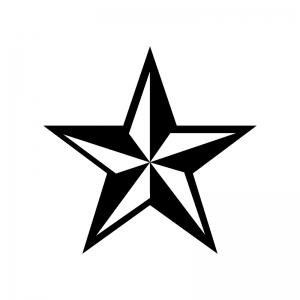 立体的な星のシルエット