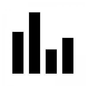 棒グラフのシルエット