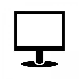 パソコンモニタのシルエット02