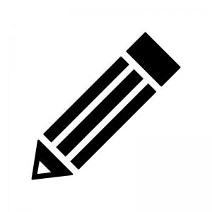 鉛筆・ペンのシルエット02