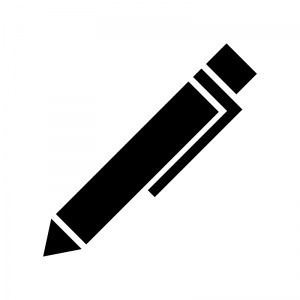 シャーペン・ボールペンのシルエット02