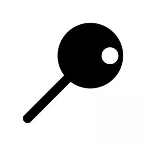 丸い画鋲・ピンのシルエット