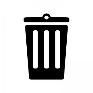 ゴミ箱のシルエット