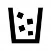 ゴミが入ったゴミ箱の白黒シルエット