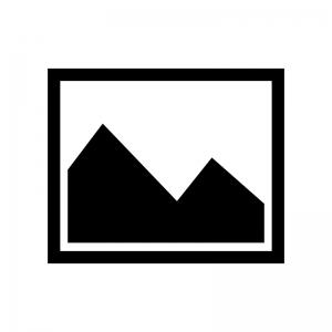 山の写真のシルエット