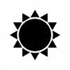 太陽・晴れのシルエット
