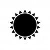 太陽・晴れのシルエット02