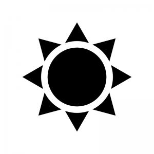 太陽・晴れのシルエット03