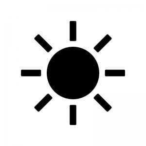 太陽・晴れのシルエット04