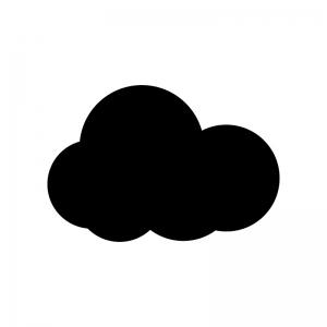 雲り・クラウドのシルエット